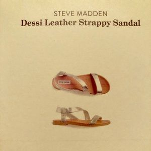 Steve Madden - silver strappy sandals